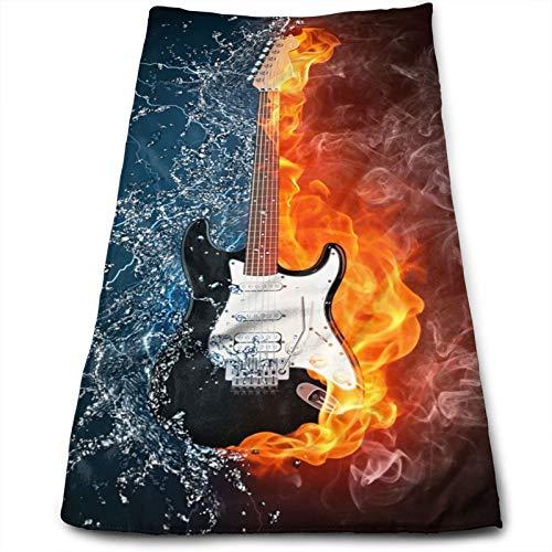 Toalla de Mano Guitarra eléctrica en el Fuego y el Agua, Toalla...
