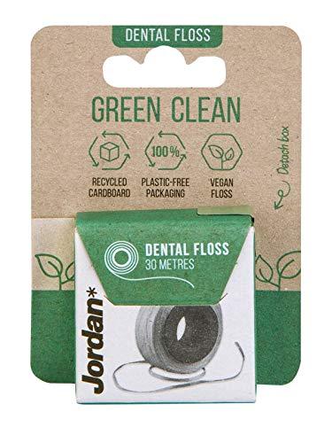 Jordan ® | Grüne, saubere Zahnseide aus veganen Materialien und 100% kunststofffrei Perfekt für Interdentalräume 30 Meter