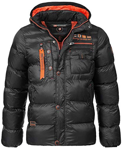 Geographical Norway Herren Stepp Winterjacke Citernier Kapuze Black XXL