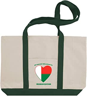 Love Soccer Heart Madagascar Style 1 Cotton Canvas Boat Tote Bag Tote