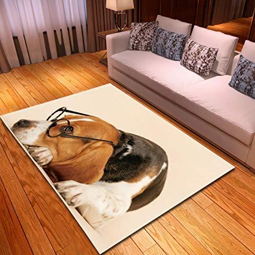 Alfombra De Área De Sofá De Decoración De Sala De Estar, Alfombra De Juego De Perro Mascota 3D Alfombra De Noche para Habitación De Niños, Alfombra De Piso Antiincrustante De Cocina 120 * 160cm