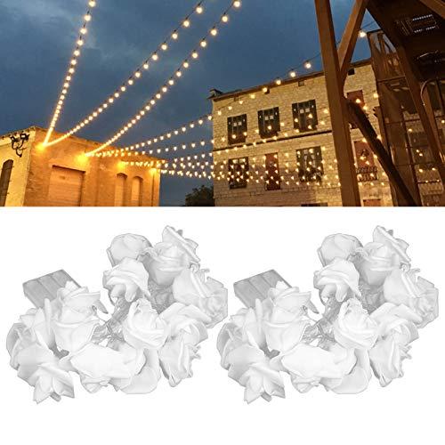 Snufeve6 Cuerda de luz, 2 Piezas de Cuerda de luz de Navidad, Fiesta de cumpleaños en casa para Ceremonias de Boda de Navidad