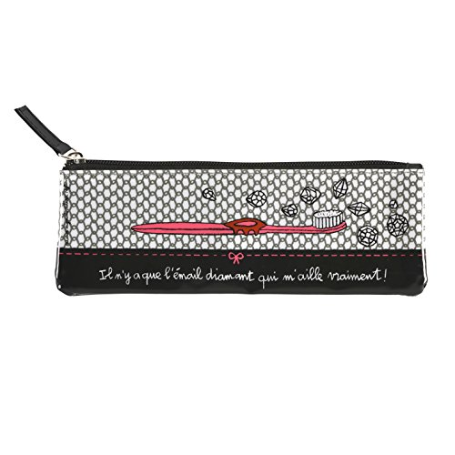 DLP Diamond Toothbrush Case - Pink/Black by Derrire La Porte (DLP)