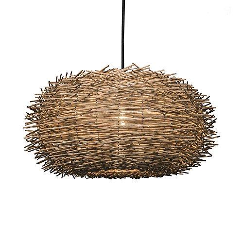 QAZQA - Modern Rural Hängelampe | Pendellampe | Pendelleuchte | Esstisch | Esszimmer braun Rattan - Hatch 45 | Wohnzimmer | Schlafzimmer | Küche - Kugel | Kugelförmig - LED geeignet E27