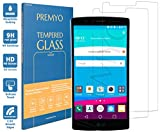PREMYO 2 Piezas Cristal Templado Protector de Pantalla Compatible con LG G4 Dureza 9H Bordes 2,5D Sin Burbujas contra Arañazos