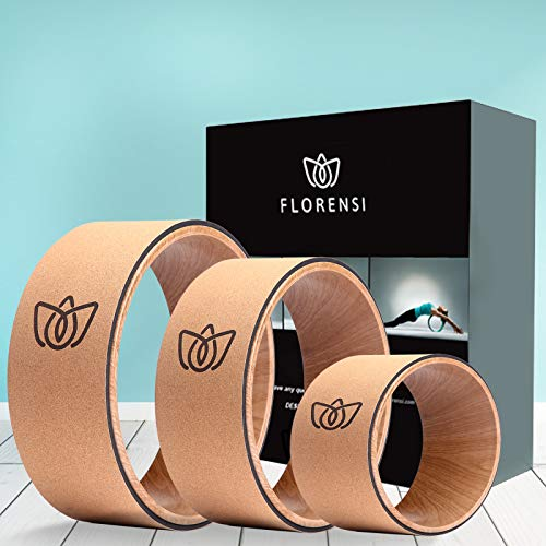 Florensi Yoga Wheel (3-Pack), Back Roller for Muscle Relaxation, Stretching Back Wheel for Pain Relief, Back Pain, Messages, Cracking and Popping, Yoga Circle for Challenging Poses