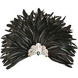 sigando Schwarz Feder Kopfschmuck Maske, venezianischen Karneval Aboriginal Crown Achselzucken...