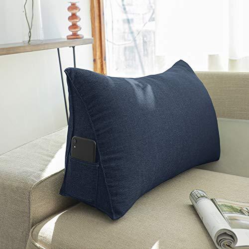 Cojines Grandes Almohada de Sofá de Cuña para Adultos, Soporte de Espalda Almohada Triangular Sofá Cama Silla de Oficina Cojín de Descanso