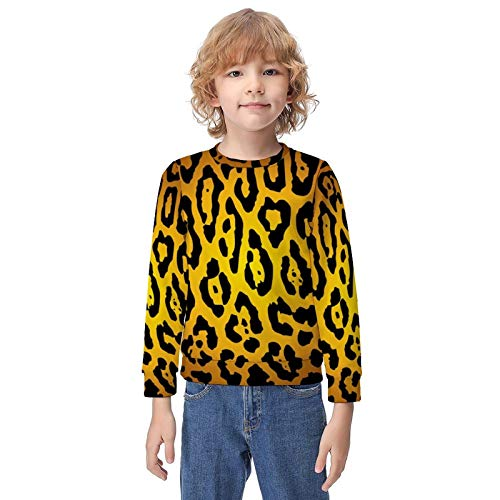 Hip Hop Pullover Hooded Sweatshirts for Boys Girls Teens Junior, Cheetah Leopard Art Hoodies with Front Pocket Fit Sport Tops for Fishing, Riding, Yoga