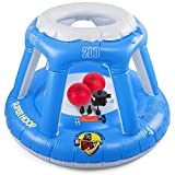 Inflatable Basketball Hoop for Water with 2 Basketballs &...