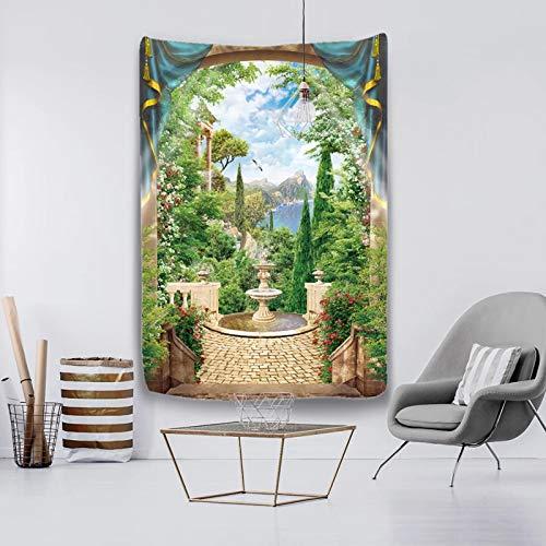 Paysage Forestier Océan Suspensions Murales Coucher De Tapisserie Murale Avec Art Mural Nature Décorations Pour La Maison Pour Le Dortoir De Chambre À Coucher