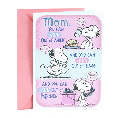 Hallmark Pop Up Mother's Day Card from Son or Daughter (Peanuts Snoopy Hug)