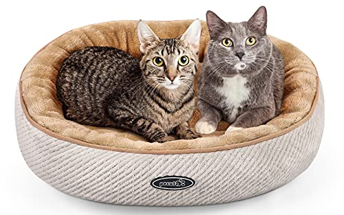 pecute Cat Bed for Large Cats and Puppies Oval (55cm)-...