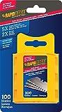 Rapid Edge All-Purpose Serrated Utility Knife Blades (100 blades), 1-Pack