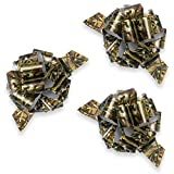 Havercamp Next Camo Poly Ribbon Pull Bows | 3 Count | Great for Hunter Themed Party, Camouflage...