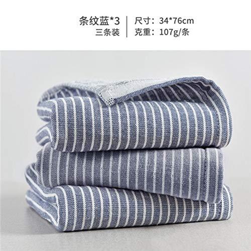 XNBCD Handdoek Volwassen Katoen Streep 3 Stuks/Set Handdoek Gezichtsverzorging