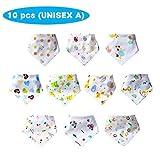 【Unisex A】Labebe 100% Algodón Babero para Bebé Unisex, Cómodo Suave &...