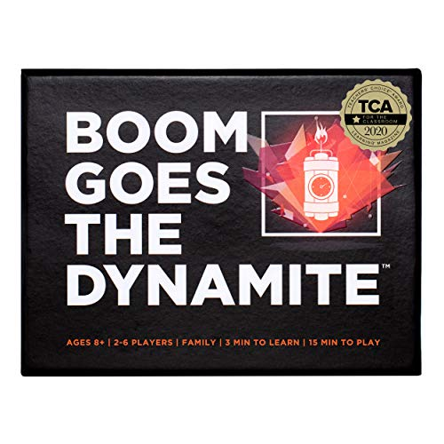 Boom Goes The Dynamite Card Game | Basic Math Memory Game | Counting & Matching Numbers | 2-6 Players/Deck Best for Family Times ● Educational STEM for Kids Aged 7+ ● Fun for Adults & Seniors Too