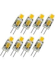 8 st superljus G4 LED 12 V lampa AC/DC 12 V COB LED-lampa 2 W byt ut halogenlampa 360 strålvinkel kristall LED-glödlampa spotlight varm vit