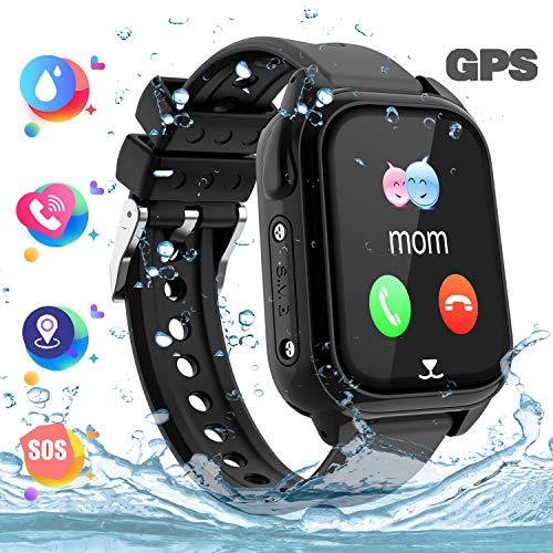 GPS kindersmartwatch telefoon - GPS kinderhorloge intelligent polshorloge armband sporthorloge, oproepbericht SOS-zaklamp digitale camera cadeau voor kinderen jongens meisjes student