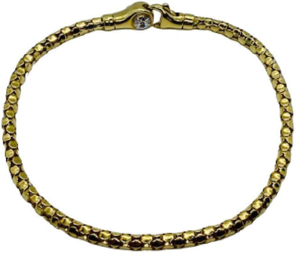 Chimento,bracciale per donna ,in oro giallo 18 kt(6,5 gr) e diamante 0,03 ct 1B00961ZB1190