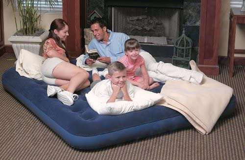 Special price for a limited time Product Bestway King Size Flocked Air Blue Bed