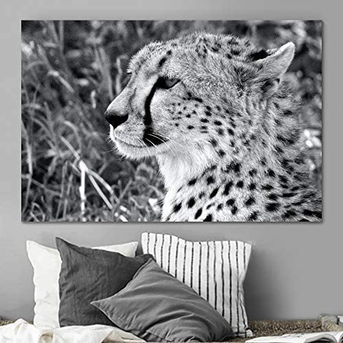 SIGNLEADER It is very popular Leopard Wall Art for Bedroom Wh and Spring new work one after another Living Room Black