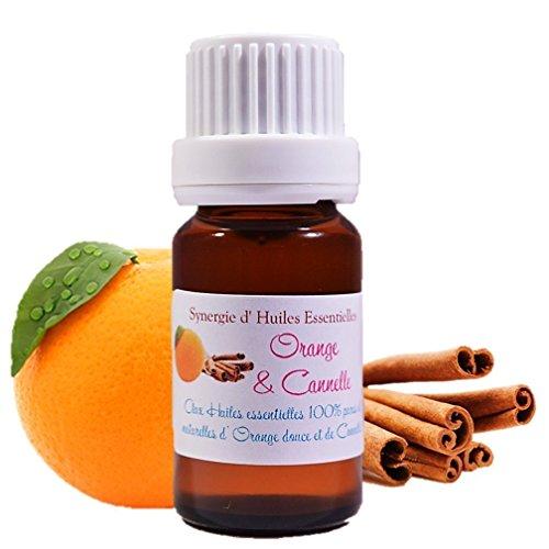 Synergie Aromatique - Mélange D' Huiles Essentielles pour Diffusion Orange-Cannelle (10ml)