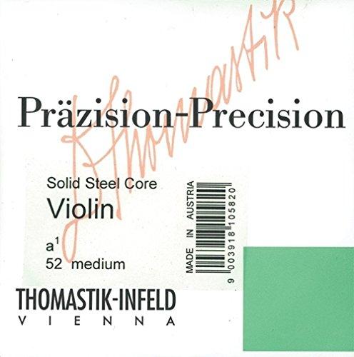 Thomastik enkele snaar voor 1/16 viool precisie volstalen kern A-snaar chroom omspan, medium