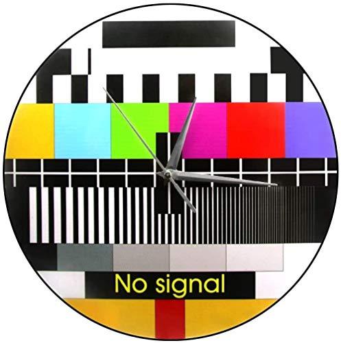 Wjchao Wanduhr Retro Tv Farbtest Bildschirm Wanduhr Moderne Wandkunst Dekoration Hintergrundanpassung Signal Kein Signal Tv Wanduhr Lautlos Leicht Zu Lesen
