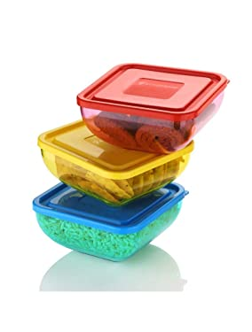 T.S crystal Square Bowl ( with Lid)   Small   ABS Plastic   Assorted-colour (1)