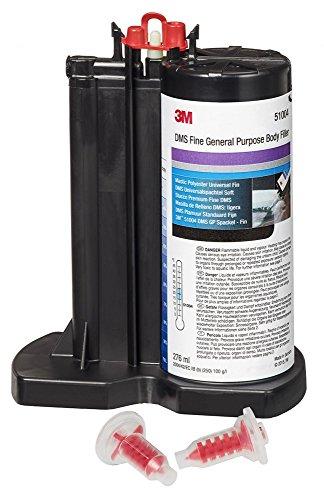 3M™ Premium Spachtel-Kartusche DMS Universalspachtel Soft, gut verstreichbar und lange verarbeitbar; inkl. 2 Mischdüsen, 276 ml