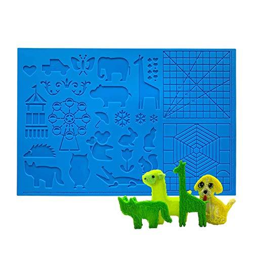 ZOBOLA 3D Stift MAT Drucken Silikondesign Große Silikondesign Matte Pad 3D Stifte Zeichnung Werkzeuge Silikon Pad Für 3D Druck Stift Design Geometrische Figur Kinderzeichnung