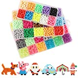 Water Sticky Beads,Uspacific Fuse Beads 21 Colors 4200 Beads Magic Spray Water Fuse Beads with Whole Set Accessories Art Crafts Toys for Kids (4200)