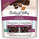 ORCHARD VALLEY Harvest Dark Chocolate Almonds, 8-1 oz Bags