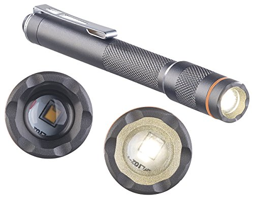 KryoLights Mini Taschenlampe: Pen-Light-LED-Taschenlampe, 150 Lumen, 3 Watt, fokussierbar, Alu, IP54 (Kugelschreiber Lampe)