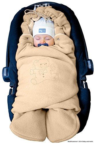 ByBoom - Manta arrullo de invierno para bebé, es ideal para sillas de coche (p.ej. de las marcas Maxi-Cosi y Römer), para cochecitos de bebé, sillas de paseo o cunas; LA MANTA ARRULLO ORIGINAL CON EL OSO, Color:Antracita/Gris