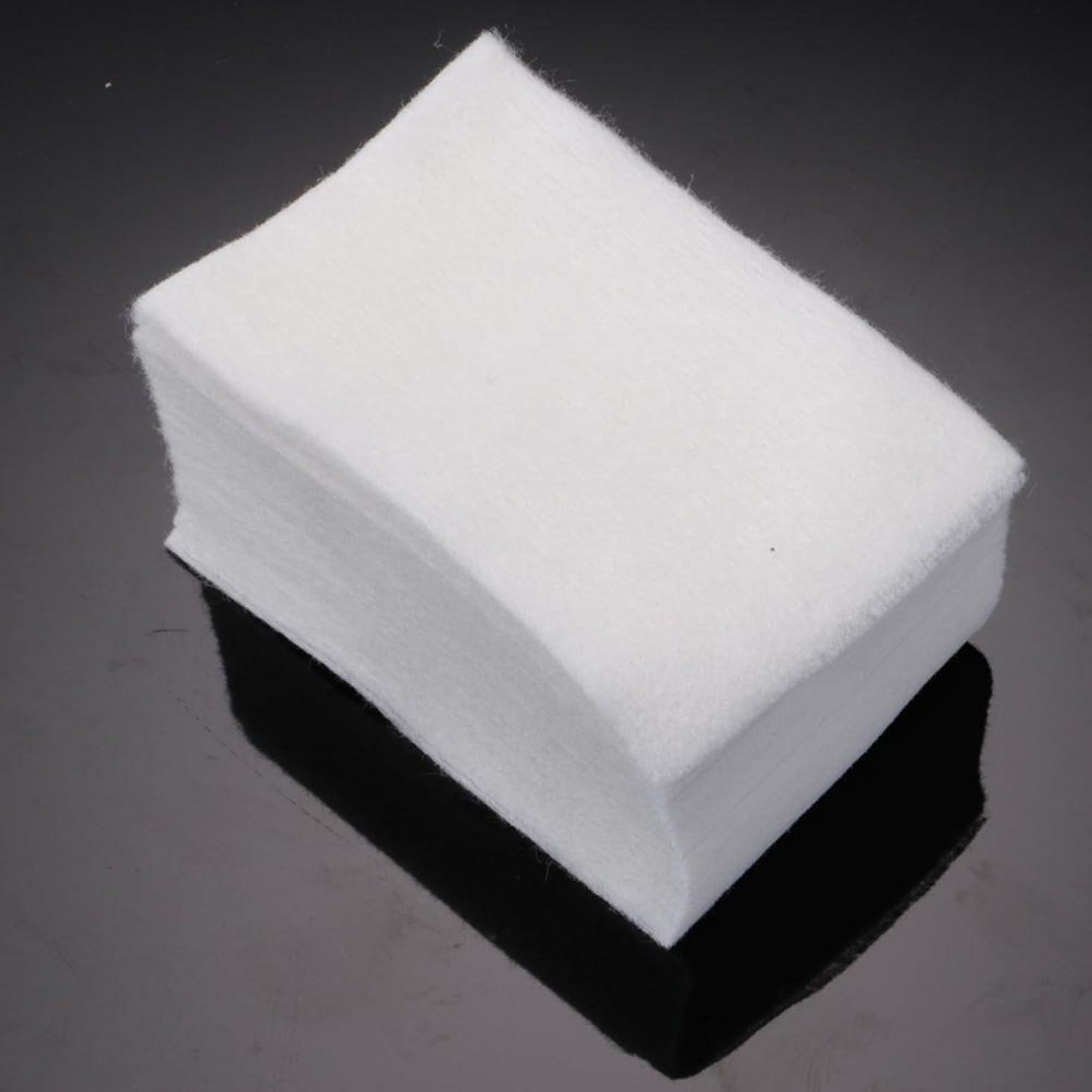 腐食する誰再編成する900pcs マニキュア 落とし 柔らかい 毛羽立ちの白 使い捨て可能 メイク落とし 除去剤