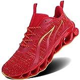 ALLCHAR Zapatillas deportivas para hombre, para correr, para el aire libre, para fitness, correr, transpirables, antideslizantes, moda para el tiempo libre, color, talla 45 EU