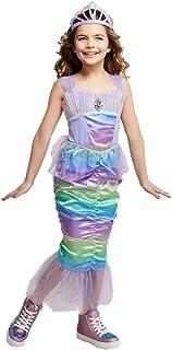 Girls Hyde and Eek! Iridescent Rainbow Mermaid Costume