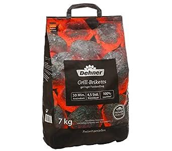 Dehner Premium Briquetas para Barbacoa, 7 kg, Negro, 28 x 15 x 48 cm