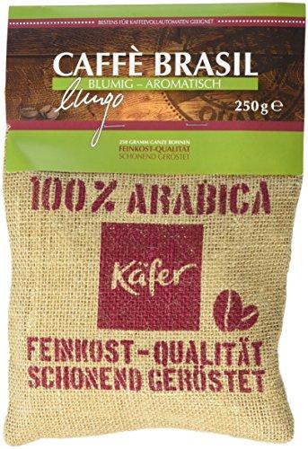 Käfer Lungo Caffe Brasil Jutesäckchen, 4er Pack (4 x 250 g)
