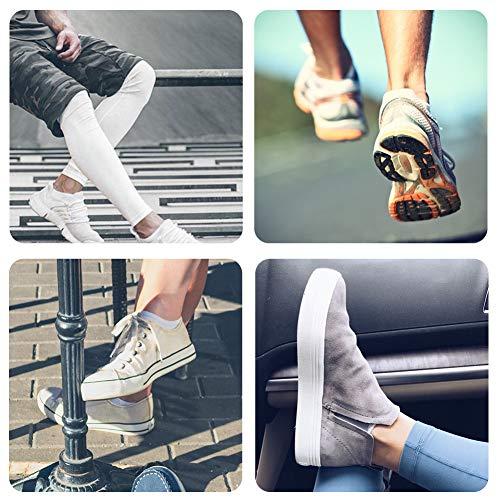 FALARY Trainer Ankle Socks for Men Women 10 Pairs Sport Low short (5x Black + 5x White, 6-8)