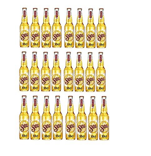 Sol cerveza lager mejicana caja 24 botellas 33cl - 7920 ml