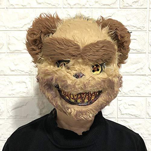 BLOUR 2021 Nueva mscara de Halloween de Miedo de Lobo Salvaje mscara de Conejo Asesino Sangriento Oso Pardo mscara de Horror de Cosplay de Felpa de Halloween para nios Adultos