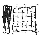 1 Stück Motorrad Gepäcknetz Dehnbar Reflektieren Netz Helmnetz mit Haken und 1 Stück Elastisches...
