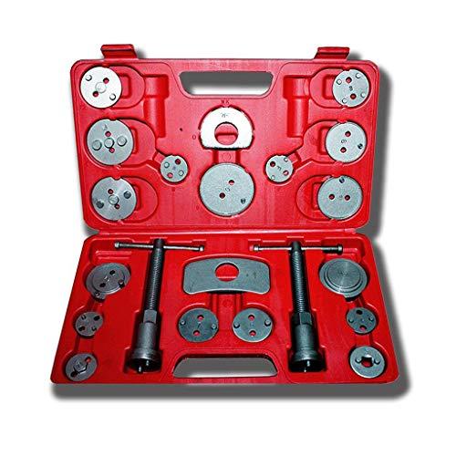 Todeco - Kit de Herramientas de Reparación de Frenos, Juego de Herramientas de Pinzas de Freno - Material: Acero C45 - Tamaño de la caja: 31 x 21,5 x 6 cm - con estuche roja, 21 Partes