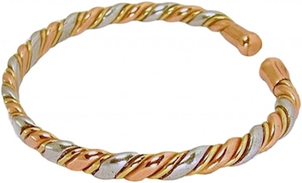 Womens Solid Copper Magnetic Bracelet Rose with Gift Box