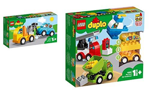 Steinchenwelt Lego Duplo Creative Play 10883 Mi primer carro de grúa + 10886 mis primeros vehículos