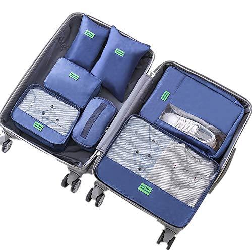 Bolsas de almacenamiento de viaje Conjunto de 7pcs bolsos impermeables del almacenaje...